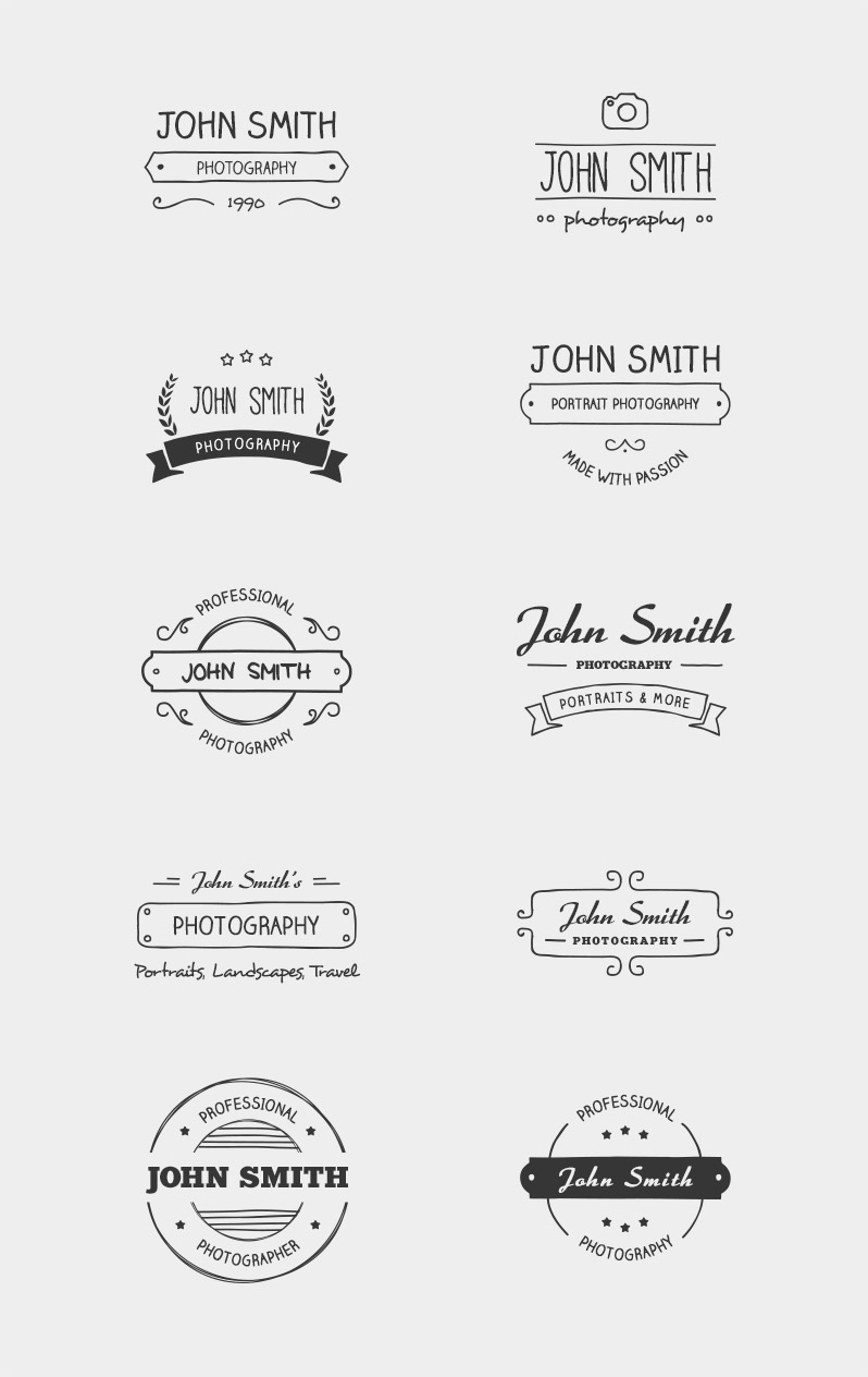 Hand-Drawn Logo Overlays