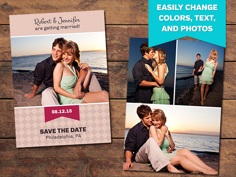 Infinity Save the Date Template