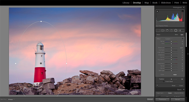 How to Use the Radial Filter in Lightroom