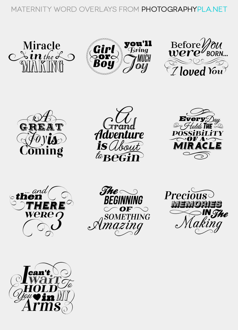 Maternity Word Overlays
