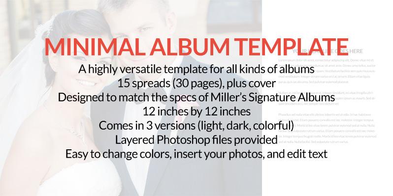 Minimal Album Template