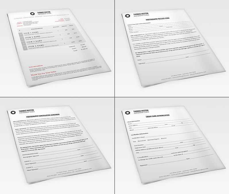 Contracts and Forms from the Photography Business Kit