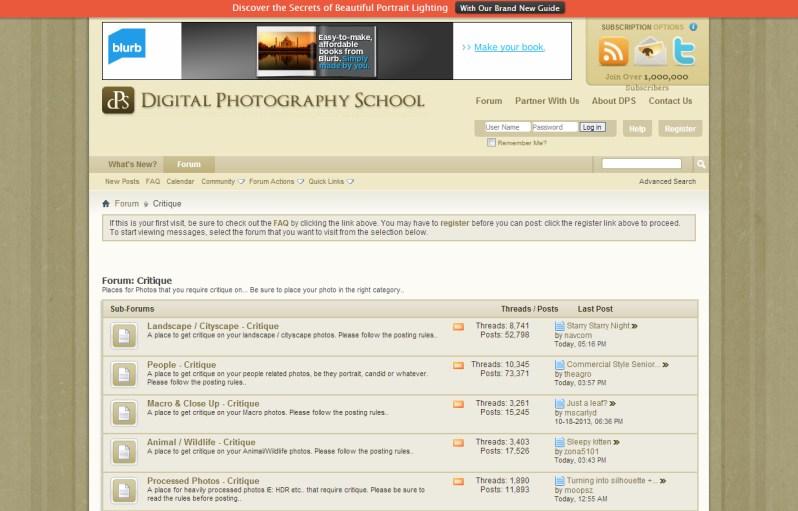 Digital Photography School Forum