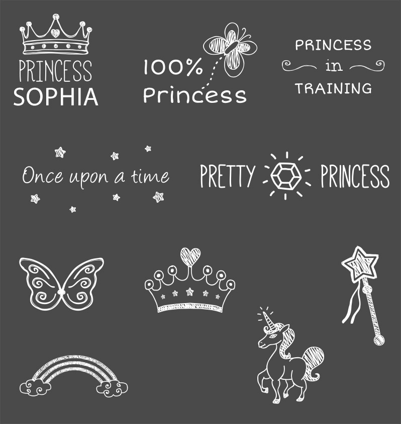 Princess and Fairytale Photo Overlays