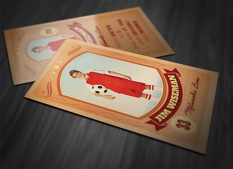 Retro Sports Card Template