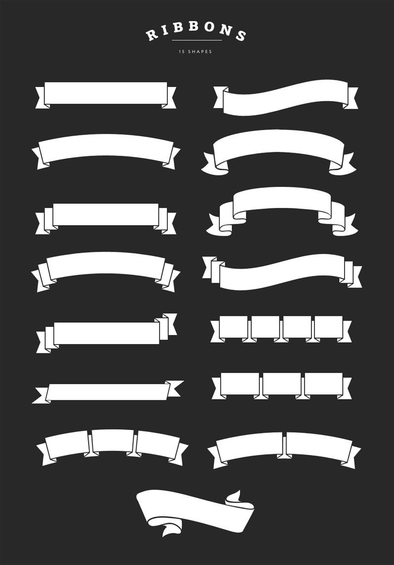 Ribbon Shapes Overlays