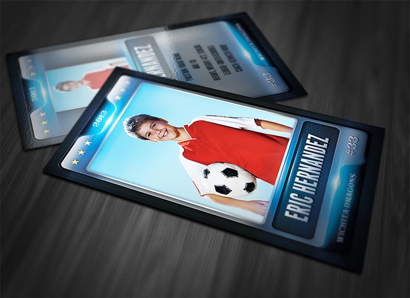 print templates sports cards shiny sports card template