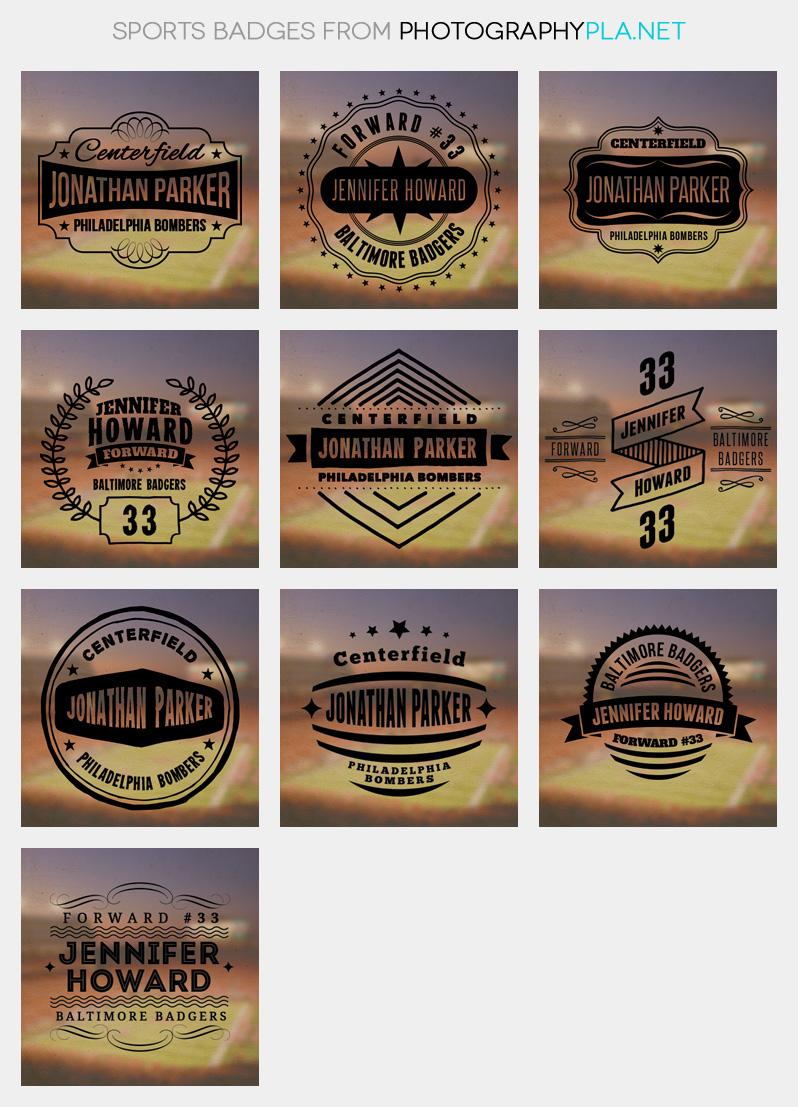 Sports Badge Overlays