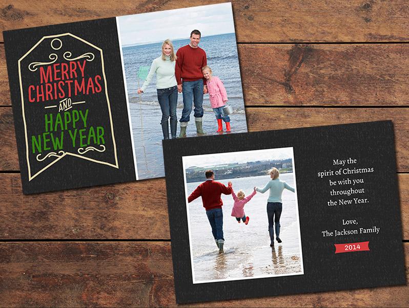Tag Christmas Card Template