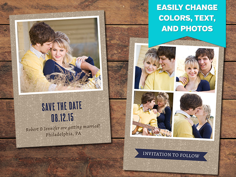 New Save the Date Card Templates Archives - PhotographyPla.net QO11