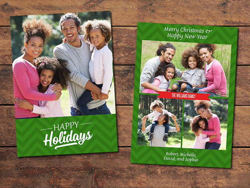 Vertical Christmas Card Template