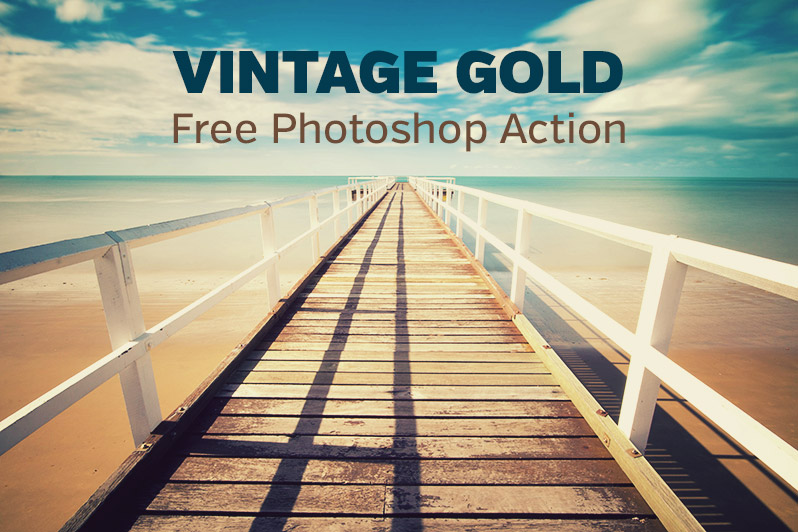 Vintage Gold - Free Photoshop Action
