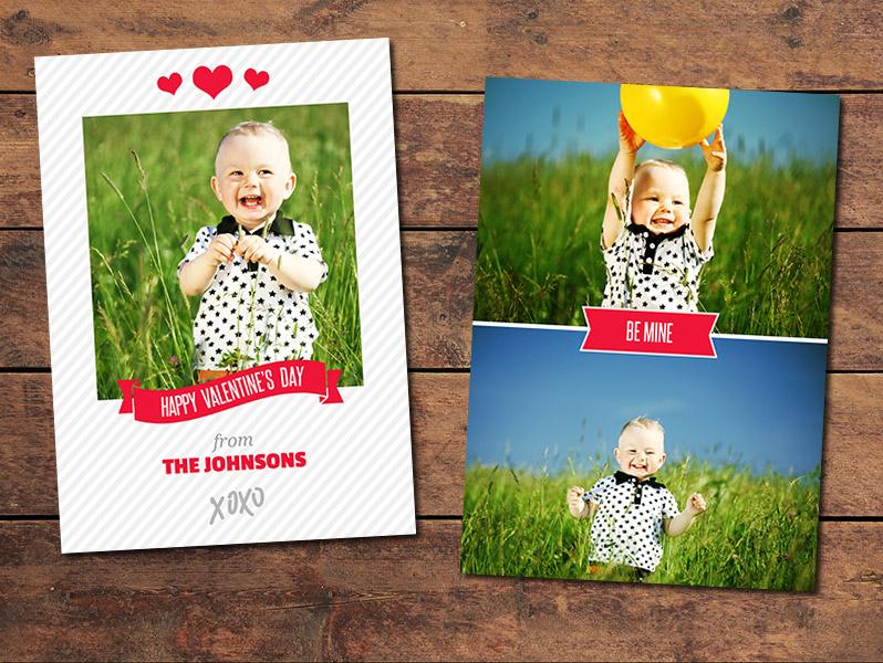 XOXO Valentine's Day Card Template